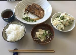 男との料理、珍しく魚料理