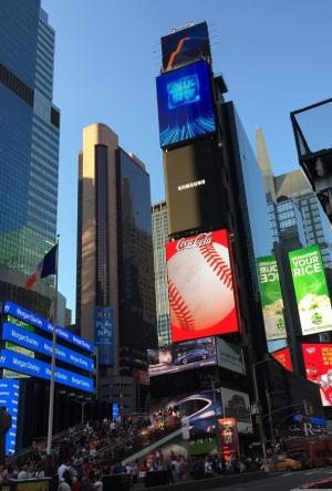 NYCのタイムズ・スクエア