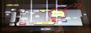 ニューヨーク紀行 その47 朝食のお店の場所はココ。