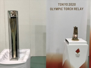 オリンピックの聖火を見てきた